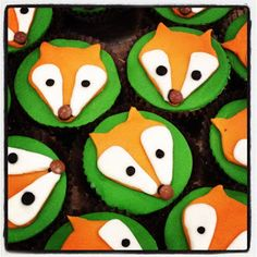 Gruffalo themed party - fox cupcakes  For Cake's Sake: Tea with the Gruffalo
