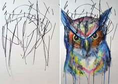 This Artist Turns Her 2-Year-Old's Doodles Into Gorgeous Paintings