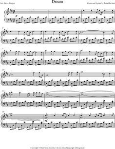 Ahn dream sheet music for voice, piano or guitar [pdf].