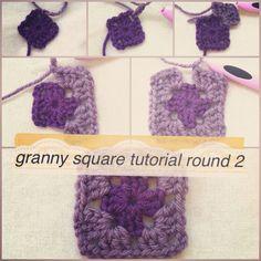 Crochet Granny Square Photo Tutorial