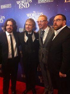 Edgar + Martin + Simon + Nick = Dream Team {Twitter / aimeegulliver: Just got an elbow to the ear to get this pic}