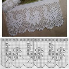 Crochet Edging And Borders Lace Edging Crochet Patterns Part 9 - Beautiful Crochet Patterns and Knitting Patterns - Lace Edging Crochet Patterns Part 9 Filet Crochet, Easy Crochet, Crochet Lace, Crochet Birds, Thread Crochet, Crochet Flowers, Crochet Stitches, Crochet Edgings, Lace Knitting Patterns