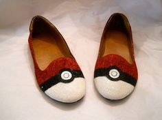 Pokemon Pokeball Glitter Shoes. $70.00, via Etsy.