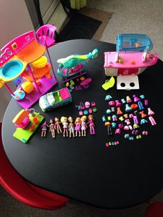 #pollypocket bundle  including a house,a car, a helicopter and a boat,clothes dolls and accessories on #ebay ending soon! #bargain