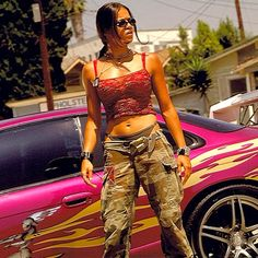 Michelle Rodriguez as Letty Ortiz in The Fast and The Furious.