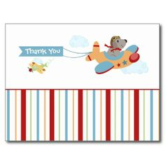 Shop Airplane dog pilot boy's thank you postcard created by Jamene. Thank You Postcards, Birthday Postcards, Postcard Design, Special Promotion, Postcard Size, Create Your Own, Pilot, Price Drop