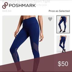 Victorias Secret Yoga Legging Pants VSX Sport tight with mesh detail. Brand new with tags Victoria's Secret Pants Leggings