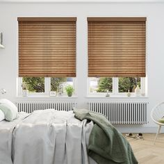 Antique Sycamore Wooden Blind - 50mm Slat from Blinds 2go