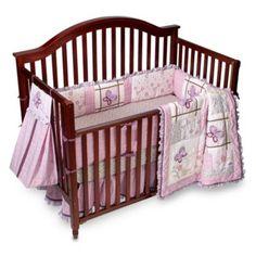 Laura Ashley Bella Butterfly 4 Piece Crib Set My