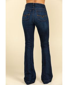 Kimes Ranch Women's Dark Wash Jennifer High Rise Wide Flare Jeans, Blue Country Chic Outfits, Country Fashion, Cute Country Clothes, Country Girl Style, Western Style, Country Girl Clothing, Hippie Clothing, Western Outfits Women, Western Wear For Women