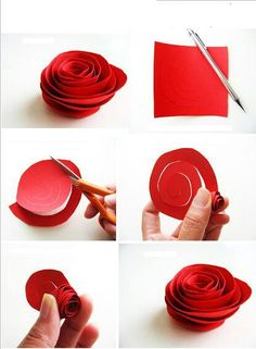 Rose out of paper