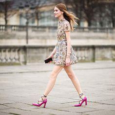 #ChiaraFerragni Chiara Ferragni: My look for Valentino show: wearing all @maisonvalentino #TheBlondeSaladGoesToParis Pic by @timuremek_photography