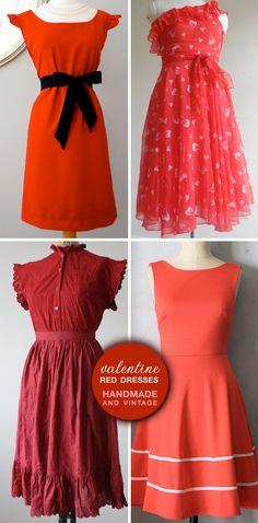 Handmade and Vintage Red Dresses for Valentine's Day — Brenda's Wedding Blog - stylish wedding inspiration boards - affordable wedding ideas - wedding vendors