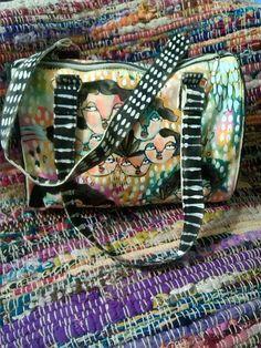 OOAK Hand painted art bag by LJKramer