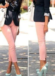 Pink jeans & blazer