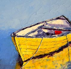 Artist Leslie Saeta knife oil painting boats Artists Helping Artists #OilPaintingOleo