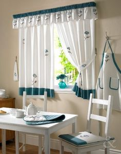 TEAL CREAM Curtain Floral Ready Made Embroidered Kitchen Net Curtains Set Curtain Pair 46x48 inches, http://www.amazon.com/dp/B00C2TWFVO/ref=cm_sw_r_pi_awdm_h0xJvb0K493VJ