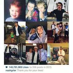 Instagram photo by nashgrier - Thanks for the love in 2015! #2015bestnine