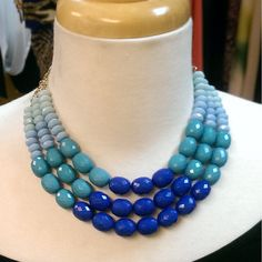Royal, Turquoise, and Powder Blue Multi-Layer Beaded Necklace Set 50% Percent Off Clearance Rack In-Store Only #Royal #Turquoise #PowderBlue #MultiLayer #Beaded #NecklaceSet #RoyalTurquoisePowderBlueMultiLayerBeadedNecklaceSet #RoyalMultiLayerBeadedNecklaceSet #TurquoisePowderBlueMultiLayerBeadedNecklaceSet #PowderBlueMultiLayerBeadedNecklaceSet #MultiLayerBeadedNecklaceSet #BeadedNecklaceSet #50Percent #ClearanceRack #InStoreOnly #25PercentOffPurple