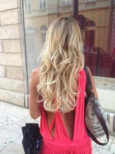 Blonde hair and dress- I really really really have been wanting light blonde…