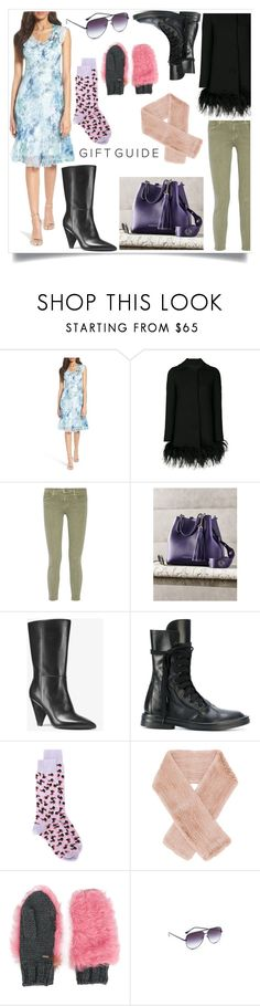 """Select gifts for your friends"" by gloriaruth-807 ❤ liked on Polyvore featuring Komarov, Boutique Moschino, Current/Elliott, MICHAEL Michael Kors, Ann Demeulemeester, Marni, Yves Salomon, Prada and Quay"
