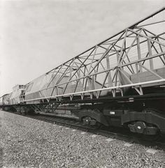 A coach used to simulate an Advance Passenger Train passenger coach during a Bogie trial...