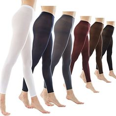 47f7e5254a6de Women's 80Denier Semi Opaque Solid Color Footless Pantyhose Tights 2pair or  6pair at Amazon Women's Clothing store: