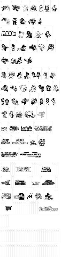 Fun Fonts For Mario and Luigi Party Invites
