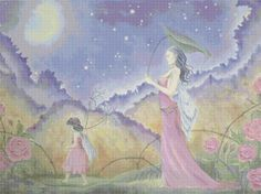 Midnight Walk Fairies Cross Stitch