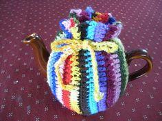 Tea Cosy by Vicki Pye Colourful Vertical Striped Tea Cosy
