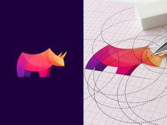 Rhino 1Ogi Latohcolor,grid,logo,logos,rhino