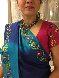 Hand Embroidery Dress, Hand Embroidery Videos, Embroidery On Clothes, Embroidery Works, Embroidery Saree, Hand Embroidery Stitches, Indian Embroidery, Embroidery Ideas, Fancy Blouse Designs