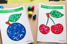 Рисование пальчиками для детей 1,2,3 года и лепка из пластилина, картинки и шаблоны для пальчикового рисования и лепки скачать, распечатать
