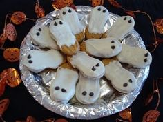Nutter Butter ghost cookies (just melt white chocolate chips and ...