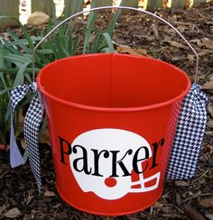 Personalized Easter Bucket assorted colors-5 QT.. $22.00, via Etsy.