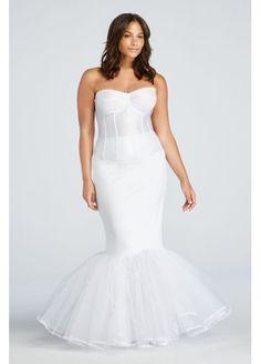 5ca5efbf20 Extreme Mermaid Silhouette Plus Size Slip 9MERMAIDSLIP Full Figure Wedding  Dress