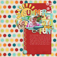 summer scrapbooking