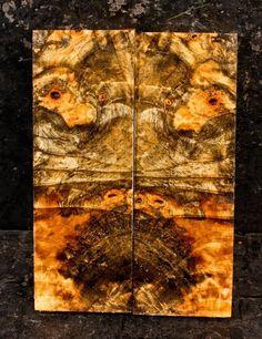 High Figured Buckeye Burl Knife Scales Pistol Grips SCL1786 P | eBay