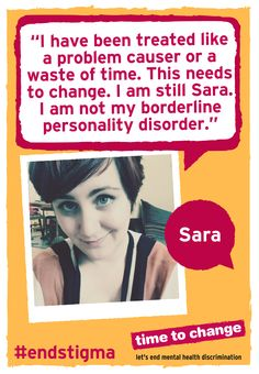 Sara writes about borderline personality disorder and fighting the stigma that comes with mental illness. #EndStigma