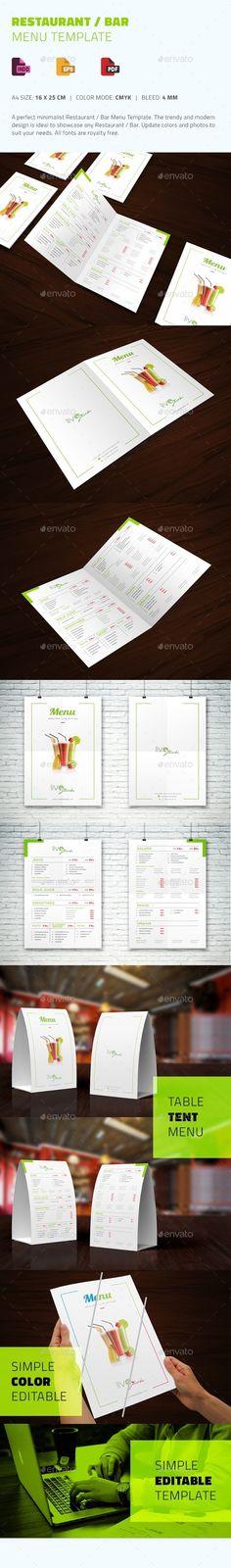 Fachada CMYK CMYK Bar  Restaurant Pinterest - bar menu template