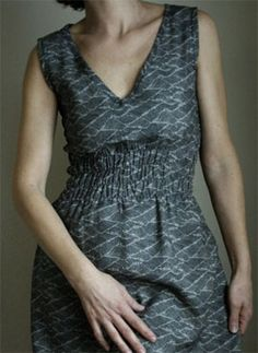 shirring - thinking of trying this on a Wiksten tank dress
