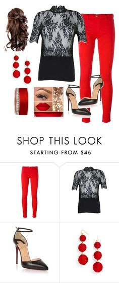 """""""Caliente"""" by vettec ❤ liked on Polyvore featuring Love Moschino, Christian Louboutin and BaubleBar"""