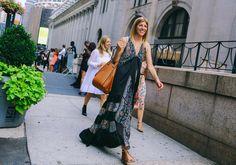 Virginia Smith is wearing a Loewe bag