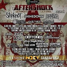 Sacramento CA! @Shinedown at  @aftershockconcert. Whos...