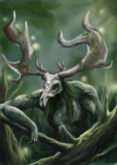 The Greenman, Cernunnos/Herne the Hunter...Cernunnos by Artist AxelAmnon...