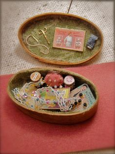 Everything fits nicely inside. Maple bent wood box sewing box. Martina Lacy