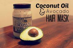 Simple DIY Coconut Oil Avocado Hair Mask