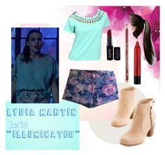 Lydia Martin by tynestar on Polyvore featuring Cruel, Joe's Jeans and NYX