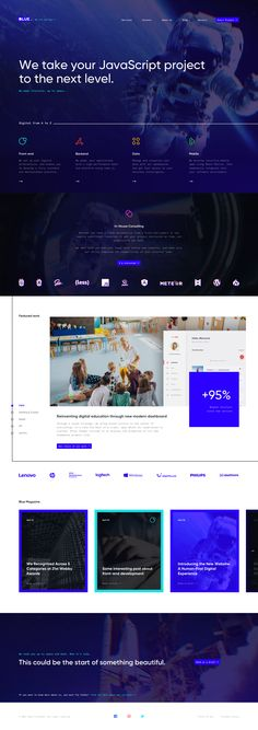 01 01 blue home Page Layout Design, Web Layout, Ui Web, Responsive Web Design, Web Portfolio, Portfolio Design, Web Design Gallery, Web Design Projects, Design Ideas