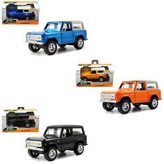 Diecast Auto World - Jada 1/32 Scale Set Of 3 1973 Ford Bronco Black Blue Orange Diecast Models 97051, $19.99 (http://stores.diecastautoworld.com/products/jada-1-32-scale-set-of-3-1973-ford-bronco-black-blue-orange-diecast-models-97051.html/)